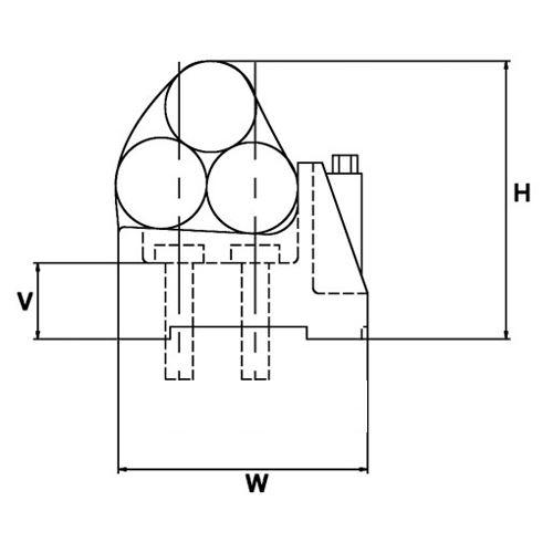 Vari Cleat Trefoil Single Quad