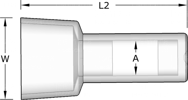 Closed End Connector Drawing